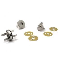 Magnetické zapínání  Ø 18mm - platina  - 1
