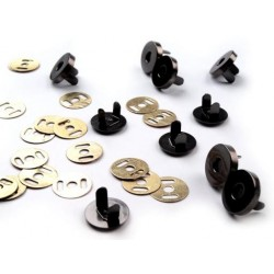 Magnetické zapínání  Ø 18mm - černý nikl  - 1