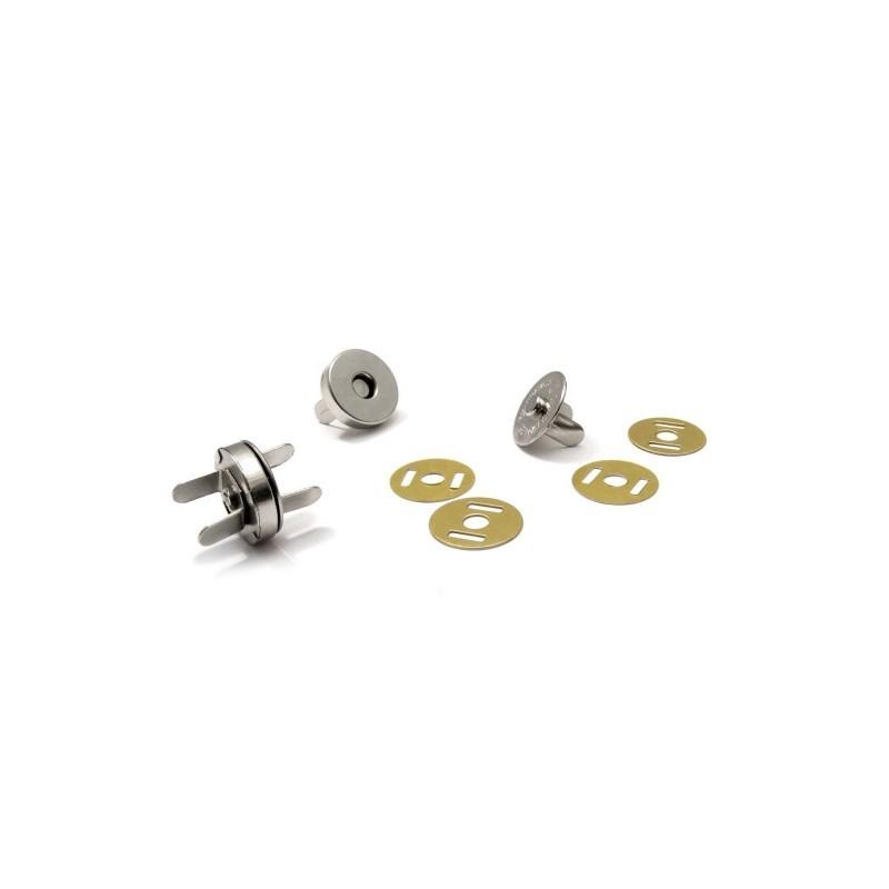Magnetické zapínání  Ø 15mm - nikl  - 1