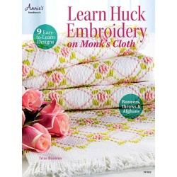 Learn Huck Embroidery on Monk's Cloth   - 1