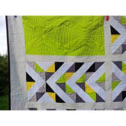 Patchworková deka/přehoz - LIMETKA  - 3