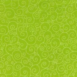 Spirálky- zelené-bavlněná látka