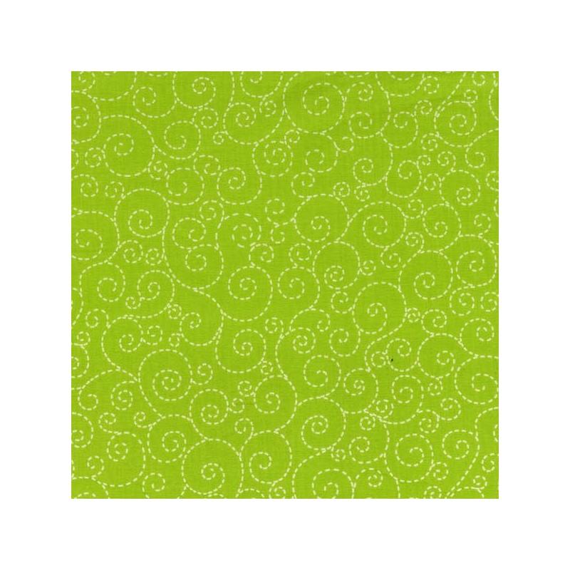 Spirálky- zelené-bavlněná látka Timeless Treasures - 1