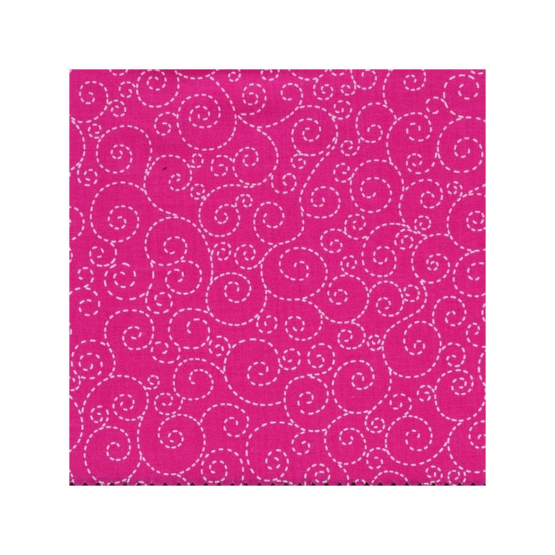 Pink Stitch Scroll-bavlněná látka Timeless Treasures - 1