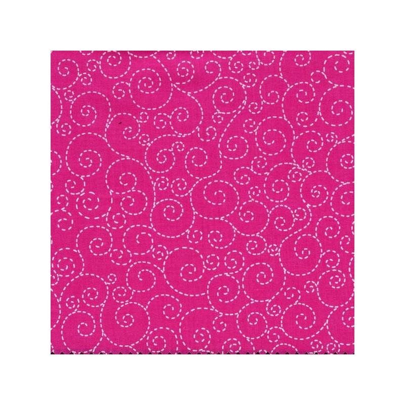 Spirálky-růžové-bavlněná látka Timeless Treasures - 1