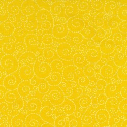 Swirl-yellow-cotton fabric