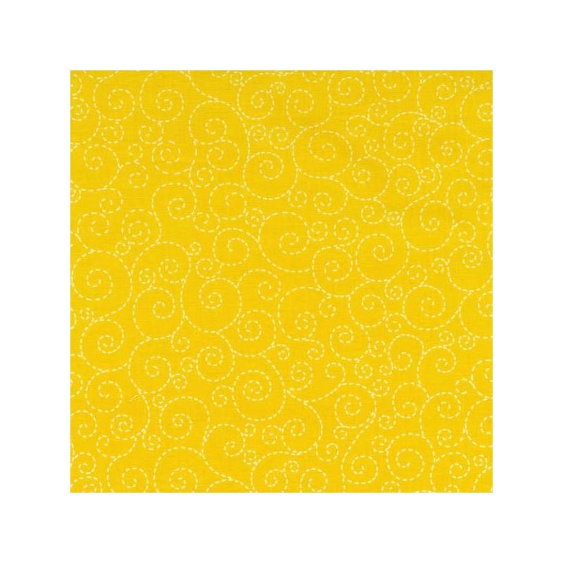 Spirálky-žluté-bavlněná látka Timeless Treasures - 1