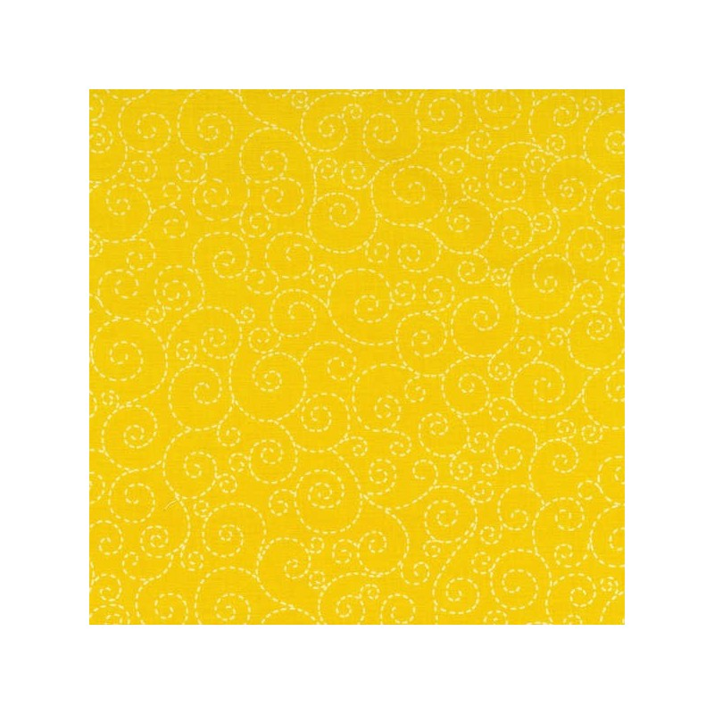 Yellow Stitch Scroll-bavlněná látka Timeless Treasures - 1