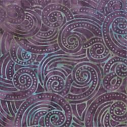 Batavian Batik - spirálky fialová