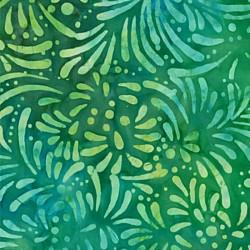 Batavian Batik-lístky zelené Wilmington prints - 1