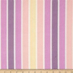 Wildberry Chevron Stripe-bavlněná látka CAMELOT FABRICS - 2