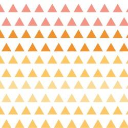 Chamomile Triangle Gradient-bavlněná látka