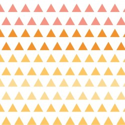 Chamomile Triangle Gradient-cotton fabric
