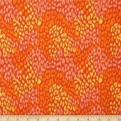 Chamomile Leopard-cotton fabric