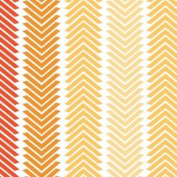 Chamomile Chevron Полосы-хлопчатобумажная ткань