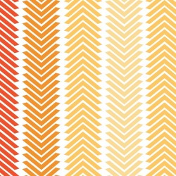 Chamomile Chevron Stripe-cotton fabric