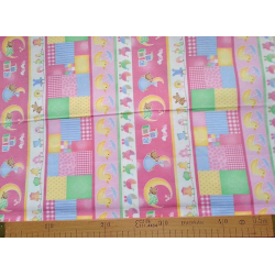 Flanel OBRÁZKY PRUHY Fabri-quilt - 1
