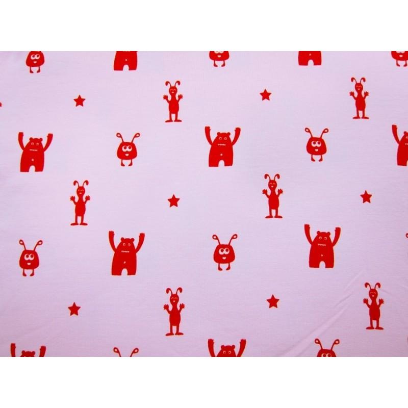 BUBÁČCI PINK/RED - cotton knit