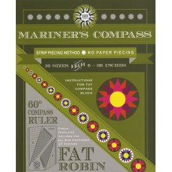 Pravítko RULER AND BOOK FAT ROBIN COMPASS ROBIN RUTH DESIGN - 1