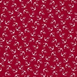 AHOJ!-červená-bavlněný úplet EVROPSKÉ LÁTKY - 1