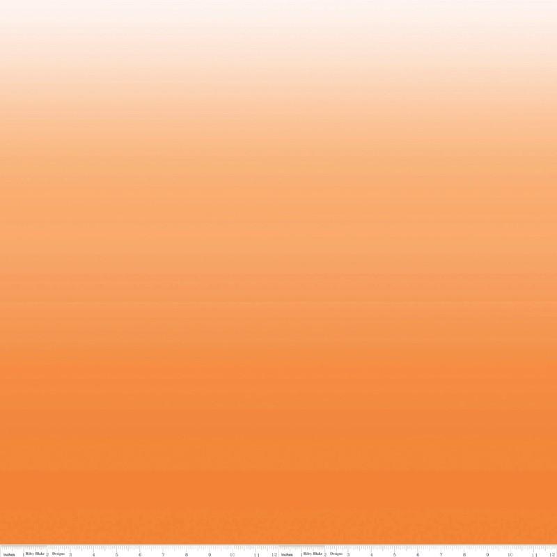 COTTON OMBRE - oranžová