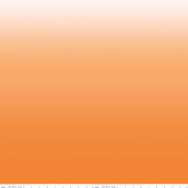 COTTON OMBRE - oranžová-bavlněná látka RILEY BLAKE FABRICS - 1