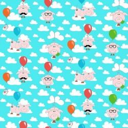 LUCKY-PIGS - bavlněný úplet