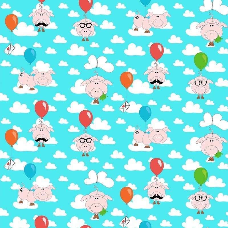 LUCKY-PIGS - cotton jersey