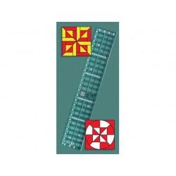 Pravítko na patchwork Quick Trim & Circle Ruler XL CREATIVE GRIDS - 1