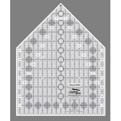 Линейка для пэчворка HOUSE RULER 9Х12,5 см