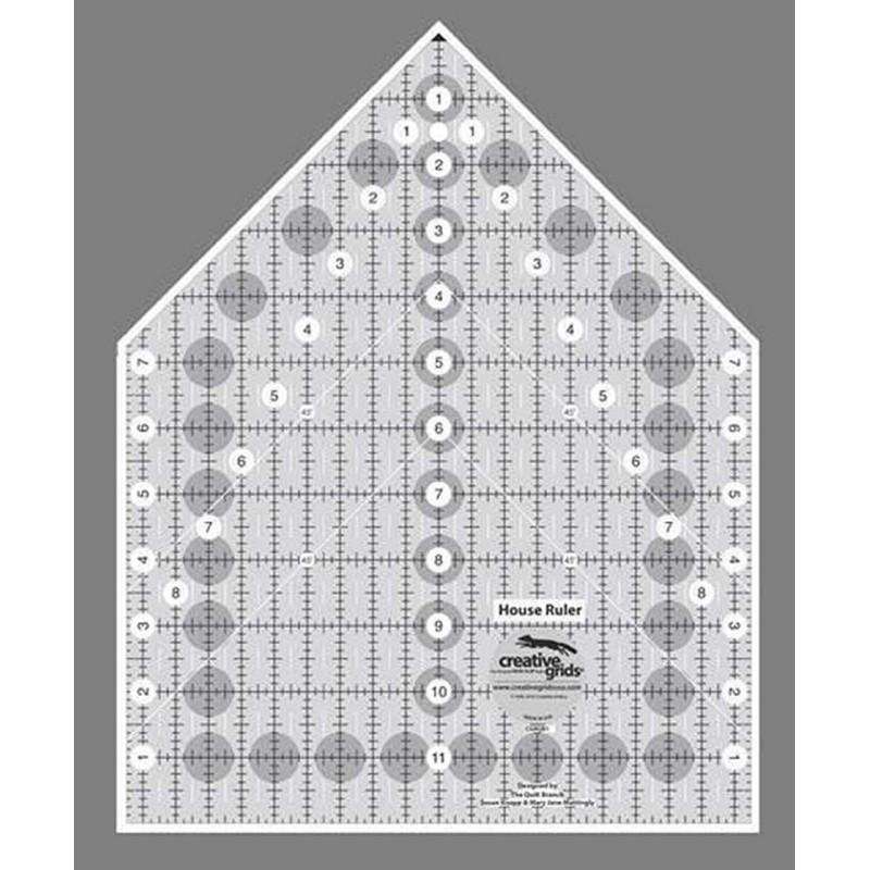 Pravítko na patchwork HOUSE  RULER 9X12,5  inch CREATIVE GRIDS - 1