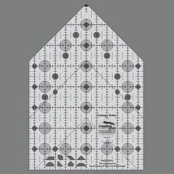 Pravítko na patchwork COTTAGE RULER 5,5x8 inch CREATIVE GRIDS - 1
