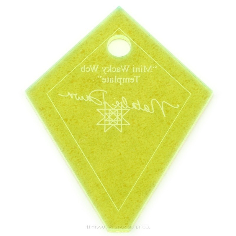PRAVÍTKA NA PATCHWORK MISSOURI STAR QUILT COMPANY Ruler Mini Periwinkle (Wacky Web) Template 136 Template measures 3,25 x 2,5 i