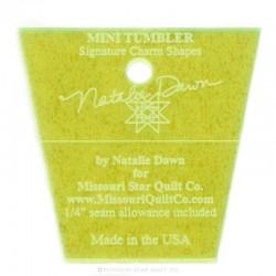 Lineal für patchwork-Mini-Tumbler-Vorlage