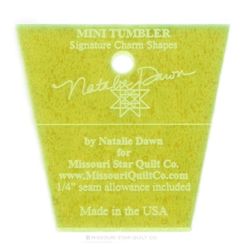 PRAVÍTKA NA PATCHWORK MISSOURI STAR QUILT COMPANY Pravítko na patchwork  Mini Tumbler Template 136 2 1/2 inch Mini Tumbler Temp