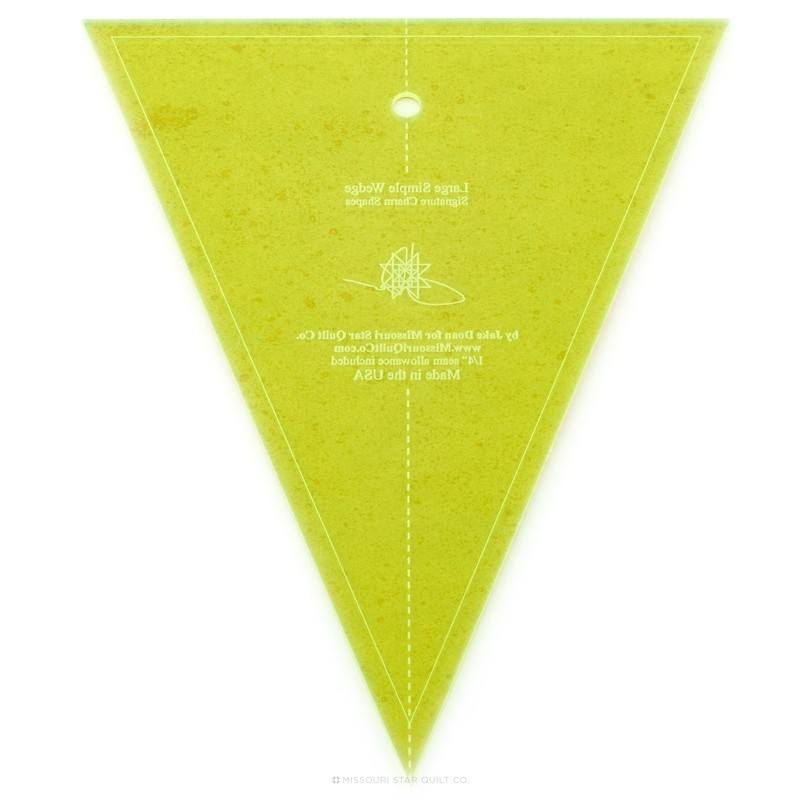 PRAVÍTKA NA PATCHWORK MISSOURI STAR QUILT COMPANY Ruler for patchwork Large Simple Wedge Template 409 Designed for use on the s