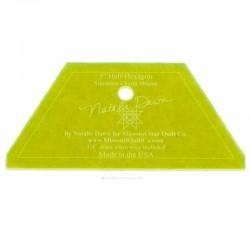 Lineal für patchwork Kleinen Halben Hexagon-Vorlage