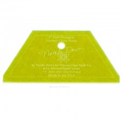 Ruler for patchwork Small Half Hexagon Template