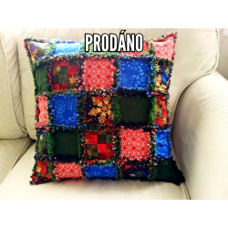 SOLD - Ragový pillow - winter/christmas