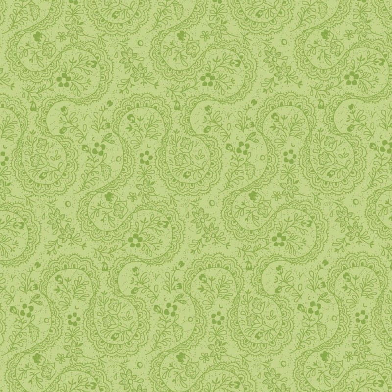Symphony Rose - zelená paisley