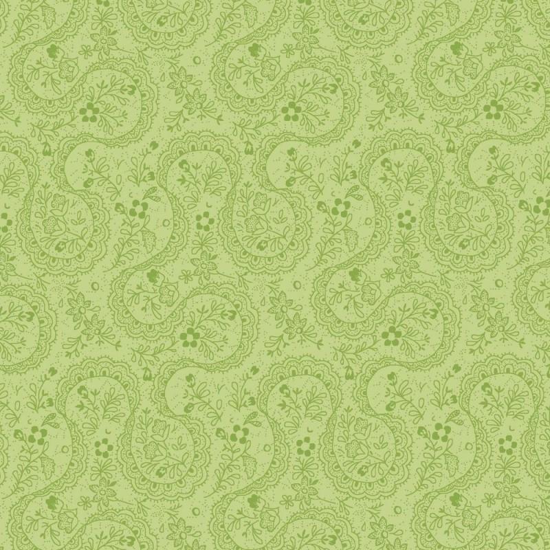 Symphony Rose - green paisley