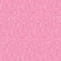 Látka Symphony Rose - růžová paisley