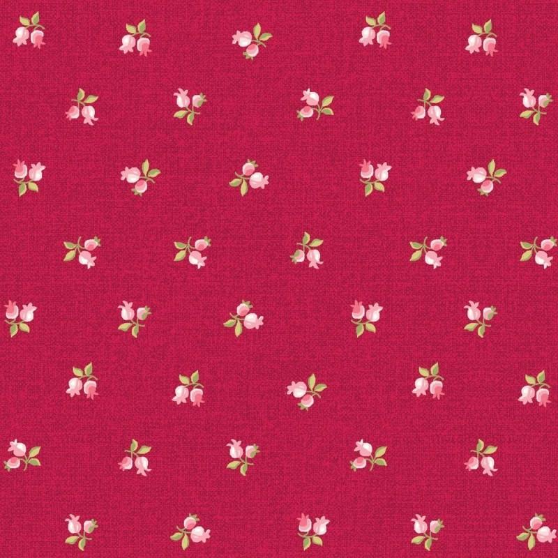 Látka Symphony Rose - růže mini červená