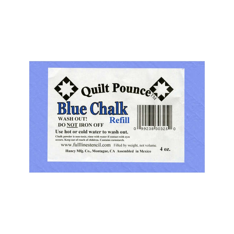Replacement chalk into a cushion - blue