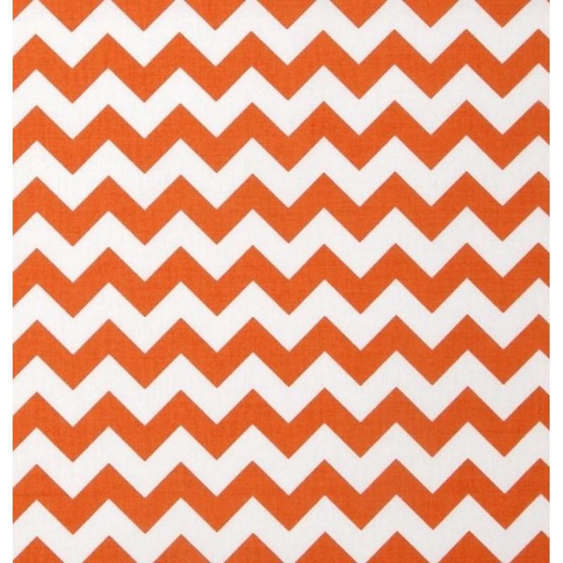Bavlněná látka T0108 - chevron oranžová  - 2