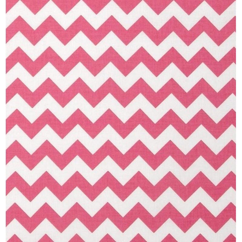 Cotton fabric T0113 - chevron pink