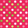 SPOT ON - polka DOTS RED-cotton fabric