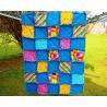 DEKY DĚTSKÁ PATCHWORK RAG DEKA-KOČIČÍ II 1800 Měkounká a teplá dětská patchworková deka šitá technikou rag. 7