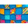 DEKY DĚTSKÁ PATCHWORK RAG DEKA-KOČIČÍ II 1800 Měkounká a teplá dětská patchworková deka šitá technikou rag. 6