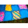 DEKY DĚTSKÁ PATCHWORK RAG DEKA-KOČIČÍ II 1800 Měkounká a teplá dětská patchworková deka šitá technikou rag. 4